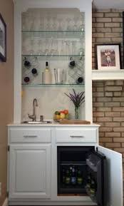 Home Bar Cabinet With Refrigerator - a clean and organized dry bar is a great option for a small nook