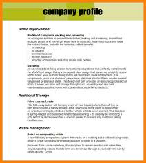 Resume Profile Template 3 Business Profile Template Pdf Resume Emailsbusiness Profile