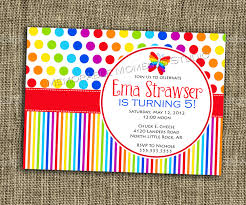 How To Make Invitation Cards For Birthday Printable Invitation Rainbow Party Collection Bright And