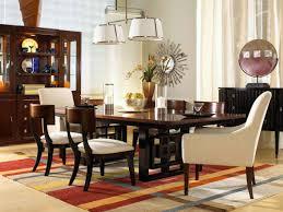 appealing orange furry rug and rectangular black polished wooden
