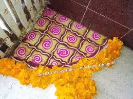 rangoli decoration beautiful new corner rangoli for diwali festivals flower rangoli