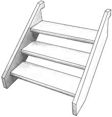 flat pack treated pine stairs 240x45 includes fixings