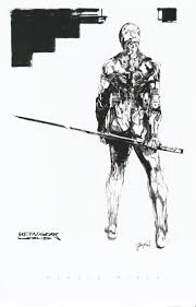 character sketches for metal gear solid 1998 by yoji shinkawa