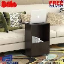 side table with laptop storage new sofa side table walnut magazine holder laptop coffee living room