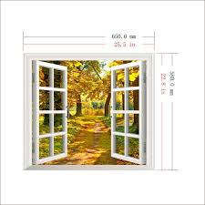 bamboo wall decals murals promotion shop for promotional bamboo 3d window forest bamboo birch tree view wall stickerswall mural wall decals muurstickers voor kinderen kamers