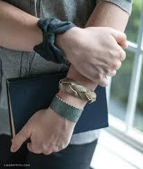 leather bracelet craft images Three diy leather bracelets lia griffith jpg