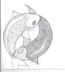 koi fish yin yang pencil and in color koi fish yin yang