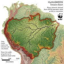 Pandas Map Amazon Basin Hydrosheds Map Casa Casimiro Brazil U2022 Mappery
