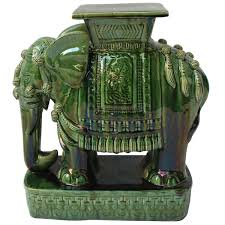 elephant garden stools side end tables stands vintage made in