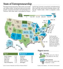 Iowa State Map Nebraska Iowa Rank Highly In New State Entrepreneurship Index