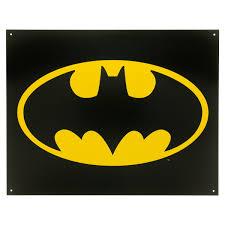 Batman Home Decor Batman Bat Symbol Logo Dc Comics Metal Sign Superhero Signs
