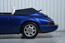 navy blue porsche convertible 1991 porsche 964 carrera 2 cabriolet carrera stock 1991152 for