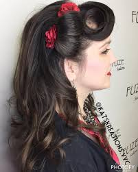 pin up hairdos long black hair 41 pin up hairstyles that scream retro chic tutorials included