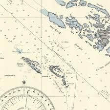 Solomon Islands Map Print Of Solomon Islands Manning Strait Poster On Vintage