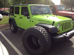 lifted jeep green gecko rubicon on 40s 6inch lift jeep wrangler forum
