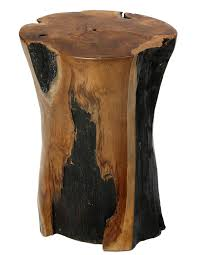 Home Decorators Collection Artisan Bare Decor Hourglass Artisan Accent Solid Teak Wood Tree Stump