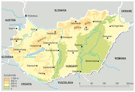 World Map Hungary by Large Detailed Elevation Map Of Hungary Hungary Europe