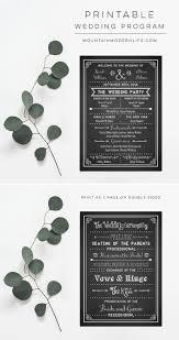 Diy Wedding Programs Printable Diy Wedding Program Fan Mountainmodernlife Com