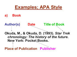 collection of solutions examples of books cited in apa format on