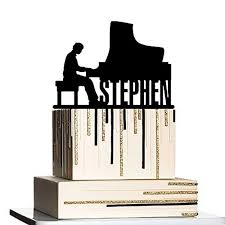 piano cake topper piano cake topper custom personalized with your last
