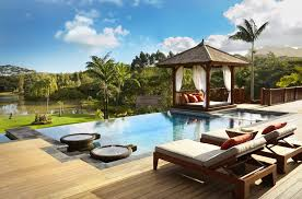 cabana designs ideas pool tropical with lounge chair wood deck