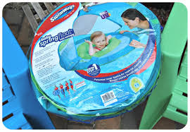 Swimways Baby Spring Float Sun Canopy Blue by Toddler Pool U0026 Beach Essentials U2013 And Her Little Dog Too