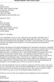 Sample Resume For English Tutor by English Instructor Cover Letter