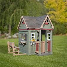 backyard discovery victorian inn playhouse with free chalkboard