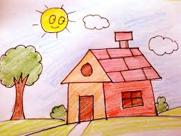 house drawing for children how to draw a house for kids
