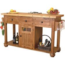 furniture butcher block movable kitchen island with cabinets and