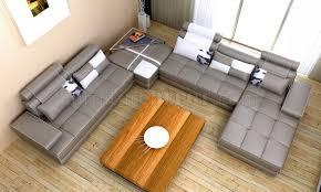 Gray Leather Sectional Sofa by 5005 Phantom Grey Bonded Leather Sectional Sofa W White Accents