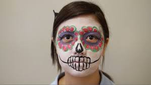 Halloween Face Paint Skeleton by Tutorial Easy Sugar Skull Face Paint Youtube