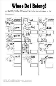 free worksheets animal worksheet for kindergarten free math