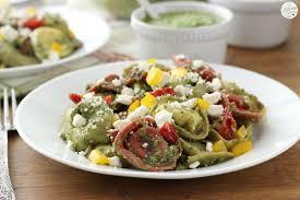 easy pesto tortellini salad a kitchen addiction
