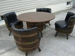 Whiskey Barrel Chairs Antique Whiskey Barrel Chairs And Table