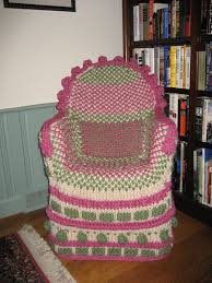 Crochet Armchair Covers Noreen1009 U0027s Fun Take On The Not So Ubiquitous Knitted Chair