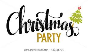 christmas party christmas banner christmas party handwritten black stock vector