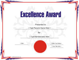 Free Certificate Of Excellence Template Education Certificate Award Certificate Template For Excellece