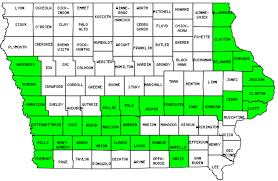 Map Of Iowa Counties Iowa Counties Visited With Map Highpoint Capitol And Facts