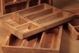 solid wood cutlery tray insert for drawers wood kitchen cutlery tidy