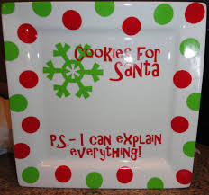 painted platters personalized personalized cookies for santa plate by alissafsmith on etsy