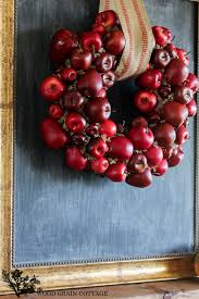 diy apple wreath the wood grain cottage