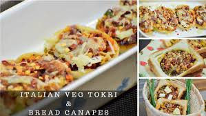 what does canape veg tokri recipe tartlet veg bread canape cheesy