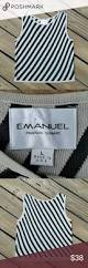 vintage emanuel ungaro striped sleeveless sweater