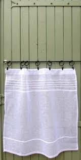 Linen Cafe Curtains Linen Cafe Curtain White Linen Curtain Panel Country Cafe
