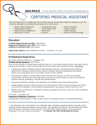 Resume Template For Medical Assistant 8 Ma Resume Examples G Unitrecors