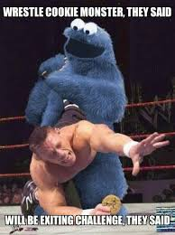 Cookie Monster Meme - cookie monster vs john cena meme by xdandan92 memedroid