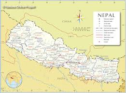 Himilayas Map Administrative Map Of Nepal Nations Online Project