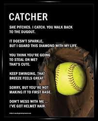 softball catcher 8x10 sport poster print softball catcher helmet