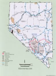 Nevada Map Nuclear Waste Transportation